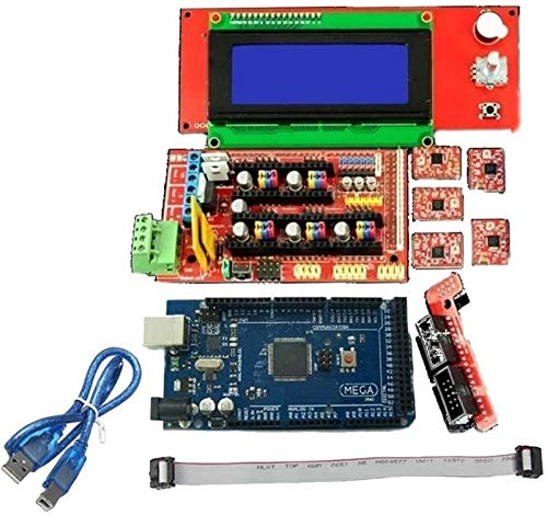 JJDSN 3D Printer Kit Mega 2560 Board RAMPS 1.4 Controller A4988 Stepper Motor Driver LCD 12864 Graphics Smart Display Controller for 3D Printer