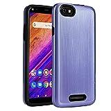 BLU Studio Mega 2019 Case,NEW FRONTIER 100% Slim-Fit [Merge] Strong Protective Shock Proof Dual Layer Precise Cutouts Bumper Style Phone Case for BLU Studio Mega 2019 (Purple)