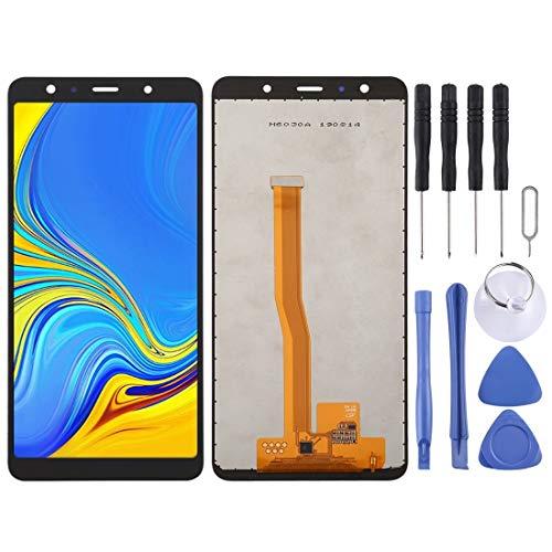 REPUESTOS for Samsung Pantalla LCD y digitalizador Asamblea incell Completa for Galaxy A7 (2018) A750F   DS, A750G, A750FN   DS (Color : Black)