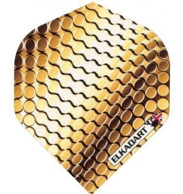 Unbekannt Elkadart Extra Strong Pro Titanium Gold Dart Flights (3 Stk.)