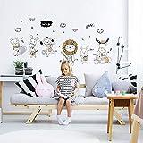 STRIR Vinilo Pegatinas Decorativas Adhesiva Pared Dormitorio Salón Guardería Habitación Infantiles Niños Bebés - Fiesta de la música animal