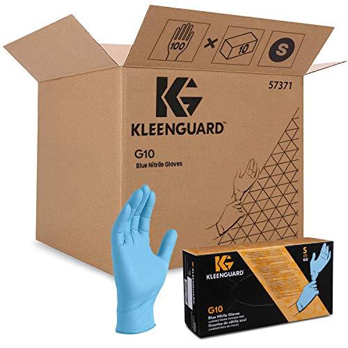 KleenGuard G10 Beidseitig tragbare Nitrilhandschuhe 57371 – Blau, S, 10x100 (1.000 Handschuhe)