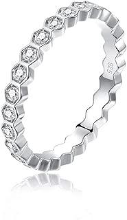hexagon wedding band