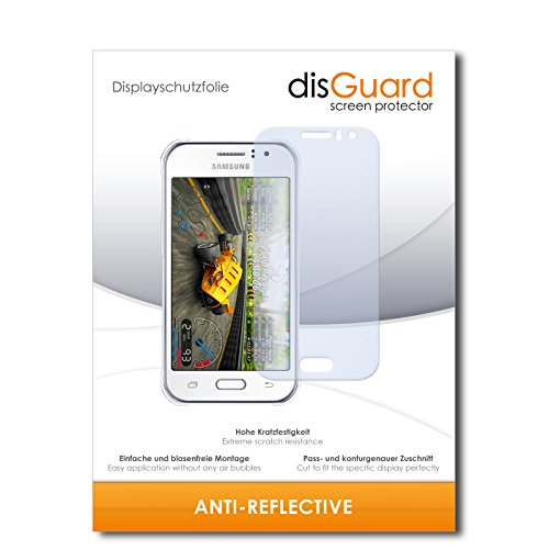 disGuard Displayschutzfolie für Samsung Galaxy J1 Ace [2 Stück] Anti-Reflex, MATT, Entspiegelnd, Extrem Kratzfest, Anti-Fingerabdruck - Displayschutz, Schutzfolie, Panzerfolie