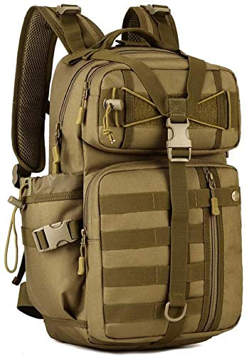 tgbnh Backpack,30L Tactical Backpack Military Assault Pack Rucksack Large Laptop Daypack For Hiking Camping Hunting (Color : Brown)