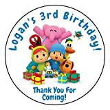 Pocoyo Stickers, Birthday Party, Labels for Tags, Personalized (12 Count)