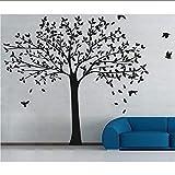 Riesige entworfene Baumschule mit fliegenden Vögeln Silhouetten Art Wall Poster Home Kids Schlafzimmer Sweet Decor Geschenk Wallpaper 220 * 250cm