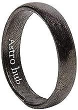 ASTRO HUB Real Black Horse Shoe Iron Unisex Ring