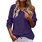 Mebamook Women Summer Shirts for Women Vneck Shirts for Women Workout Shirts for Women Purple