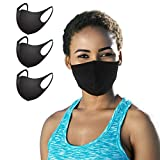 Protective Face Masks 3 Pack Unisex All Activity Outdoor Indoor Sports Silver Copper Infused Cool Breathable Washable Reusable Premium Black NanoCool Mask