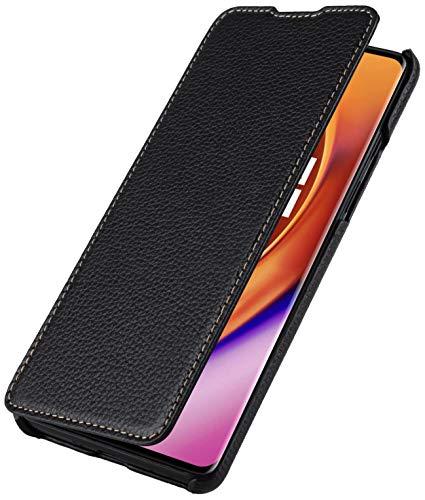 StilGut Book Hülle entwickelt für OnePlus 8 Pro Hülle aus Leder zum Klappen, Klapphülle, Handyhülle, Lederhülle, dünn - Schwarz