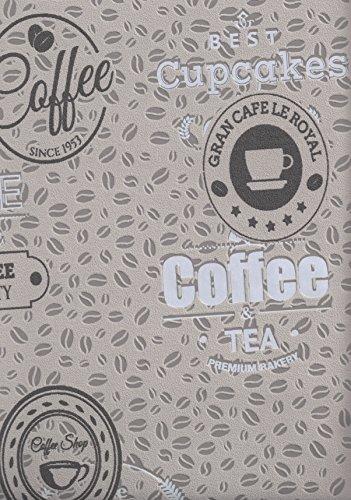BN Wallcoverings Vliestapete Kaffeebohnen Coffee Cupcakes kieselgrau braun Küchentapete 18481