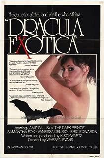 Dracula Exotica Movie Poster (27 x 40 Inches - 69cm x 102cm) (1981) -(Jamie Gillis)(Vanessa Del Rio)(Eric Edwards)(Samantha Fox)