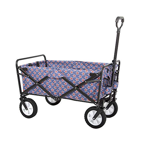 Mac Sports WTC-202 Collapsible Folding Outdoor Utility Wagon, Americana