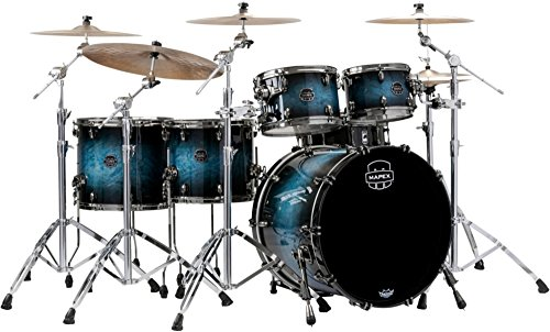Mapex Saturn V Exotic Studioease Muschel-Set, Deep Water Maple Burl Finish, 5-teilig