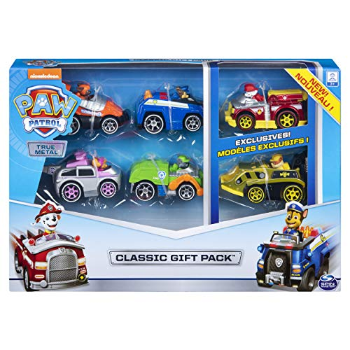 Paw Patrol 6053362 True Metal Classic Gift Pack of 6 Collectible Die-Cast Vehicles, 1:55 Scale
