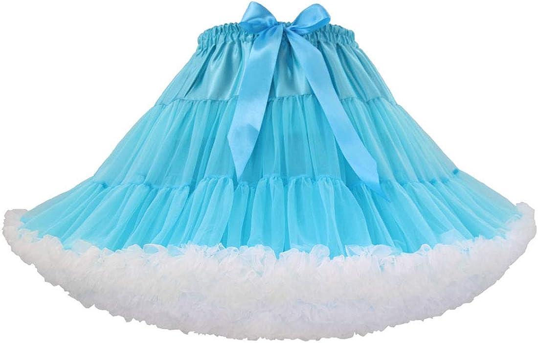 Joygown Womens Multi-Layer Puffy Tulle Petticoat Tutu Ballet Dance Pettiskirts