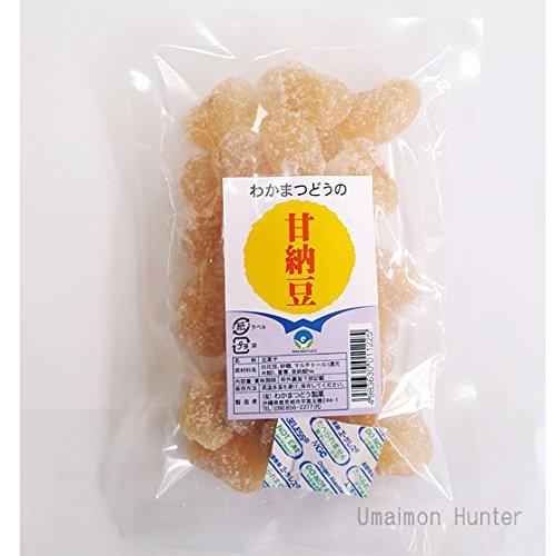 甘納豆(白花豆) 120g×1袋 わかまつどう製菓 沖縄土産 あまなっとう お茶請けやおやつに