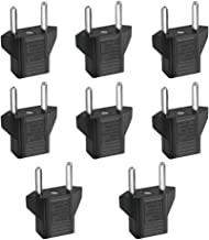 Inovat 8 PCS American USA to European Outlet Plug Adapter