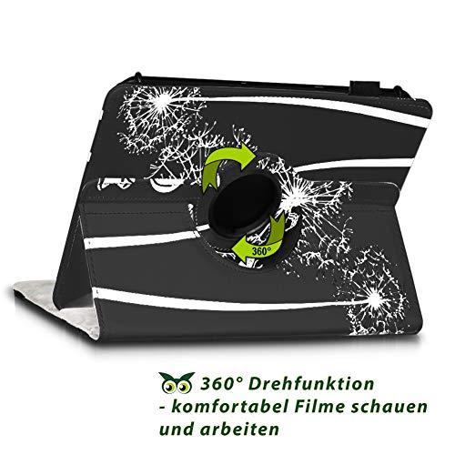 NAUC Tablet Hülle kompatibel für Lenovo Tab 2 A10-70 Tasche Schutztasche Cover Schutz Case 360° Drehbar Etui hochwertiges Kunst-Leder, Farben:Motiv 12