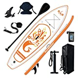 FunWater Inflatable 10'x31''x6'' Stand UP Paddle Board Ultra-Light (17lbs) Everything Included ISUP, Adj Paddle, Kayak Seat, Pump, SUP Backpack, Leash, Waterproof Bag, Non-Slip Deck pad Youth & Adult