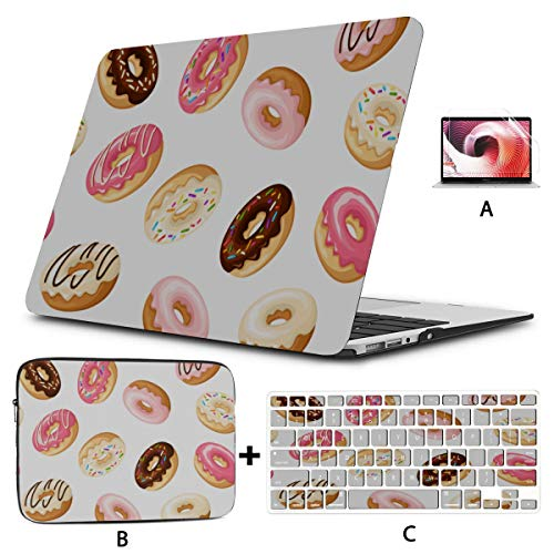 Mac Pro Laptop Case Sweets Delicious Cute Cake Donuts A1707 MacBook Pro Case Hard Shell Mac Air 11'/13' Pro 13'/15'/16' with Notebook Sleeve Bag for MacBook 2008-2020 Version