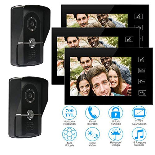 For Sale! TQ 7 inch Video doorbell Access Control System, Wired intercom doorbell, one Button Monito...