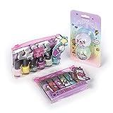 Tri-Coastal Design - Sugar Sweetie Girls Cosmetics Set de baño con bálsamos labiales perfumados para Niñas y kit de esmalte de uñas (Sugar Sweetie)