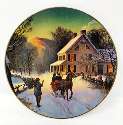 'Home For The Holidays' Collectable Avon Christmas Plate 1988