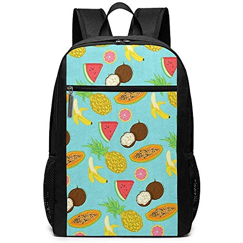 Yuanmeiju Cartoon Fruits(2) Unisex Unique Bolsas de Hombro,Adult Student Double Zipper Closure Bolso de Escuela Informal