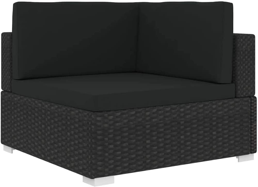 vidaXL Direct stock discount Sectional Corner Chair with Cushions Wicker Rattan wholesale Outdoo