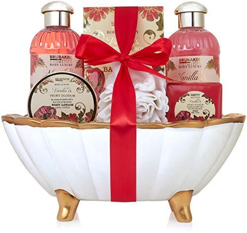 BRUBAKER 'Peony Vanille Love' Set regalo baño bañera