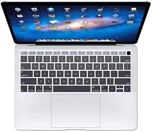 Who-Care Engels Taal Toetsenbord Cover Voor Macbook Voor Air 13 2018 Water Stofbestendig Geleidelijke Wijziging Kleuren, Gradient 134 size Grijs