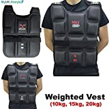 Max Strength Weighted Vests Gym Running Fitness Sports Training Weight Loss Jackets 10KG/15KG/20KG