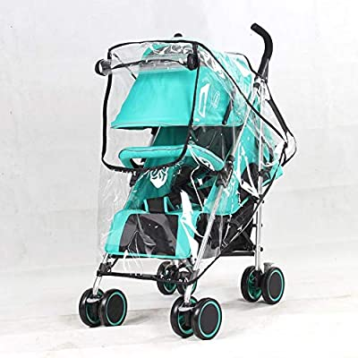 Protector Universal de Lluvia para Carritos, Cochecitos de Bebé, Burbuja de Lluvia con Ventana, Contra Viento e Impermeable (HD)