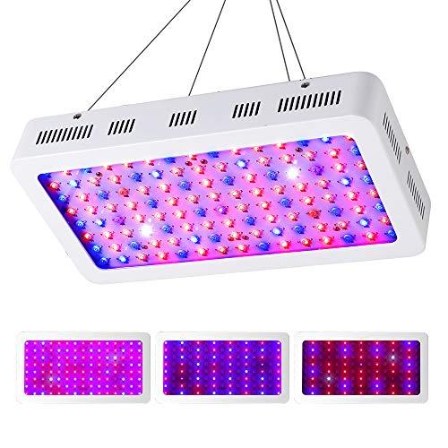 CXhome LED Pflanzenlampe 1200W Wachstumslampe Doppelschalter Vollspektrum mit UV IR 10000K Led Grow Lampe Daisy-Chain fur Pflanzen Wachstum im Gewächshaus(120 * 10W)