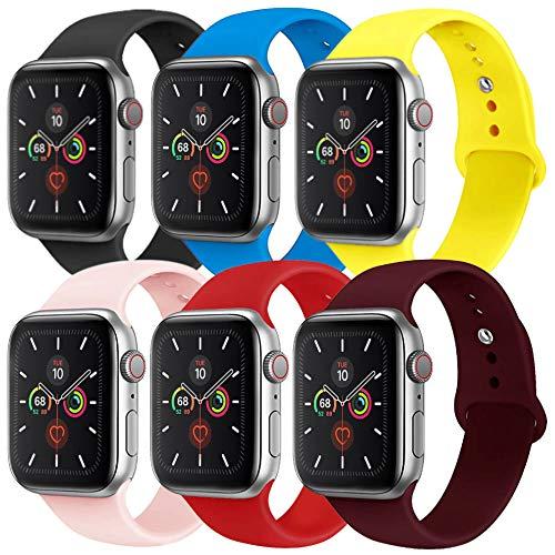KILPILLS Armband Kompatibel für Watch 40mm 44mm 38mm 42mm Weiche Silikon Uhrenarmbänder für Watch Serie 5 2019 Serie 4 2018 Serie 3 2017 Ersatz Armbänder S/M, M/L