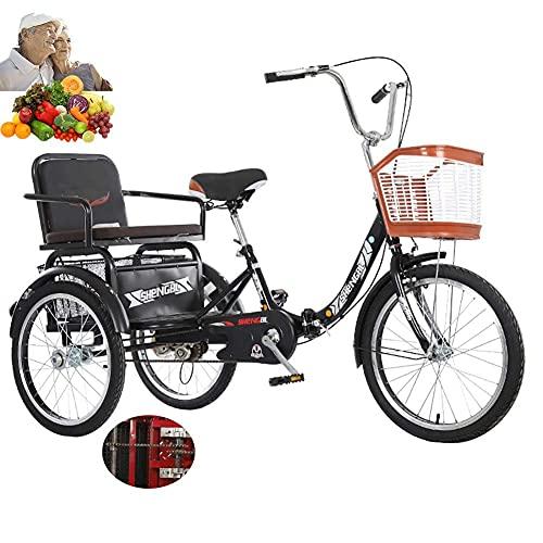 FGVDJ Bicicleta de 3 Ruedas Triciclo para Adultos para Padres Ancianos Bicicleta...