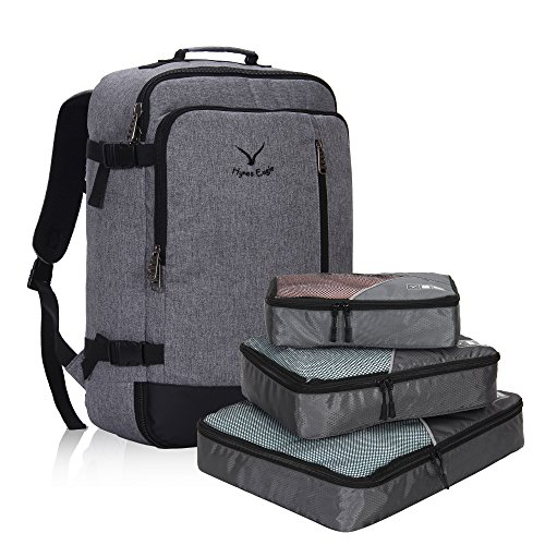 Hynes Eagle 38L Flight Approved Weekender Carry on Backpack Grey