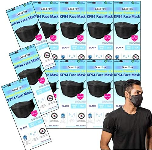 PACK OF 15 GOODDAY ENGLISH BLACK KF94 Certified Comfortable Safety Face Mask made for Adult product image