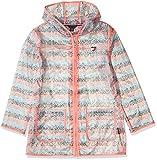 Tommy Hilfiger Kids Girls' Printed Rain Jacket, Sugar Coral, Small (7)