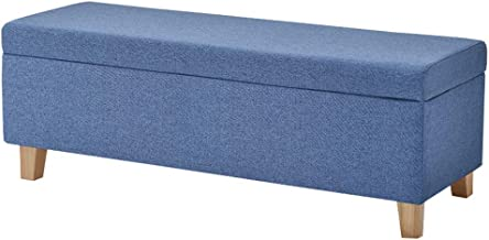 LJFYXZ Ottoman Footstool Living Room Furniture Storage Box seat Detachable Cloth Cover Footstool with Cover Mass Storage S...