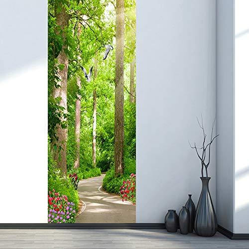 Deurschildering Trap 3D Groen Bospad Landschap Fotobehang Huis Woonkamer Muurschildering Inclusief Plakken, Woondecoratie - Muurstickers, Verwijderbare Waterdichte Vinyl Stickers
