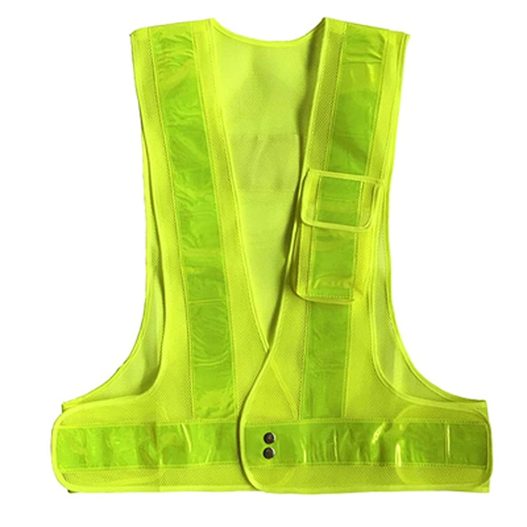 喪水星内部CRRQQ 男性、女性に最適なジョギング、バイキング、ウォーキング、オートバイに最適な反射ベスト安全屋外ランニング高視認性リフレクター服(31.5-51.2インチ) (Color : Green)