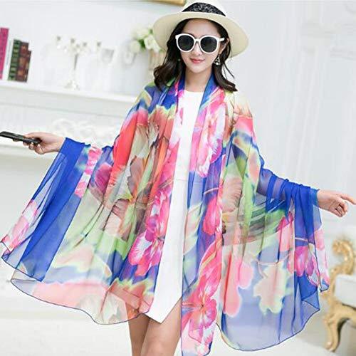 SXZHSM Beach Sjaal Zijde Dames Elegant Comfortabel Ademend Ultra Licht UV Groot formaat Strand Handdoek Reisbenodigdheden Lente En Zomer 200X140CM sjaal
