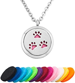 Aromatherapy Essential Oil Diffuser Necklace Dog Paw Crown Footprint Palm Statue of Liberty for Mother's Day