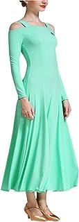 zhbotaolang Latin Dance Skirt Women Wear - Short Sleeve Costume Lady Waltz Flamenco Ballroom School Clothing