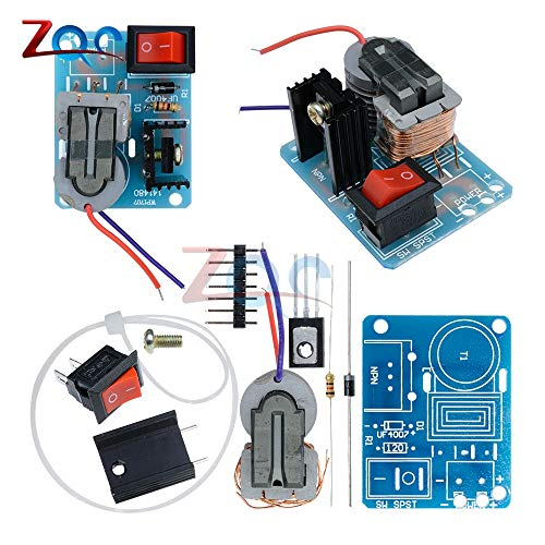 15KV Hochfrequenz-DC-Hochspannungs-LichtBogen-Zünd Generator-WechselRichter Boost Step up 18650 DIY-Kit U Core Transformator Suite 3.7 V