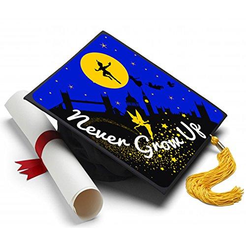 Never Grow Up - Peter Pan - Grad Cap