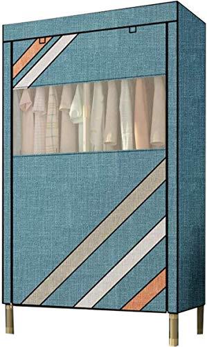 coffee table FHW Tragbare Cloth Schrank, verdicken 25MM Carbon Steel Stoff Closet Closet-Speicher-Organisator Armoire Wardrobe wasserfest und -Staub Kombination Kleiderschrank